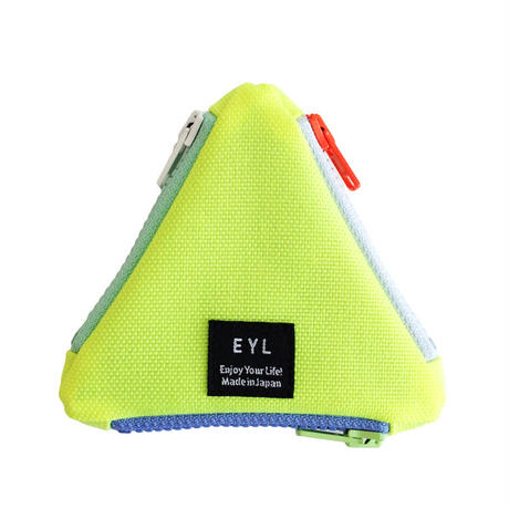 EYL triangle coin purse Optic Yellow
