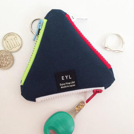 EYL triangle coin purse Navy