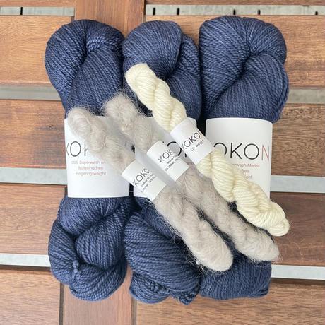 Karelia カレリアセーターby Midori Hirose  KOKON糸キット (XS, S サイズ)*こちらの商品は単独でお買い上げ下さい
