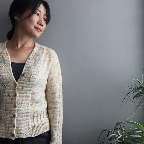 Papiput yarn tough scok 限定カラーfor BAY cardigan