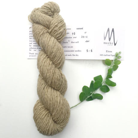 Moeke yarns Elena  2ply natural 70g