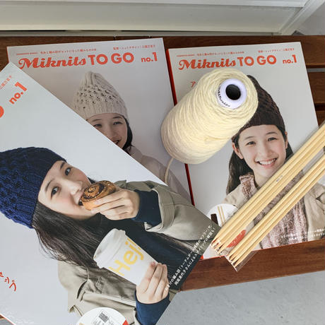 Miknits TO GO  no.1  アランのハニカムキャップ