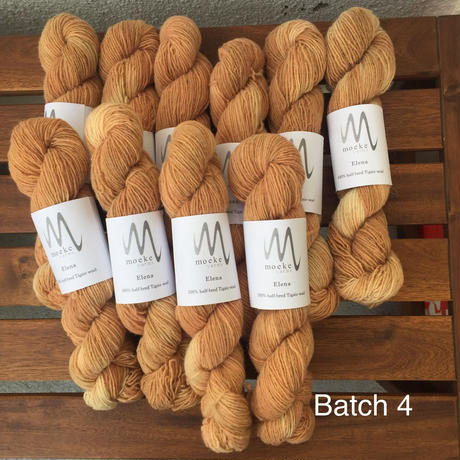 Moeke yarns  Elena  single 限定色 Marigold+madder
