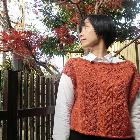 Kaede ベスト キット 糸と日本語プリントパターン この商品は単独でお買い上げ下さい