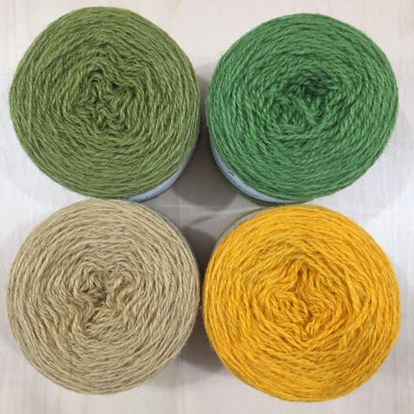 URADALE  Organic Shetland Yarn 黄・緑