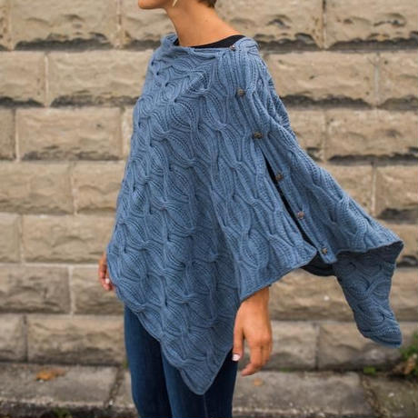 June Cashmere lace   Sand Waves Poncho kit