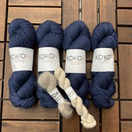 カレリアセーター by Midori Hirose  KOKON糸キット(M1, M2, L サイズ *こちらの商品は単独でお買い上げ下さい