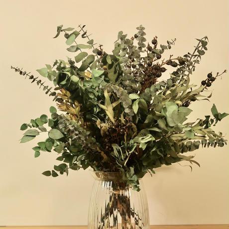 【EZ BARRIER FLOWER 365】抗菌ドライフラワーMIX(花瓶付き)