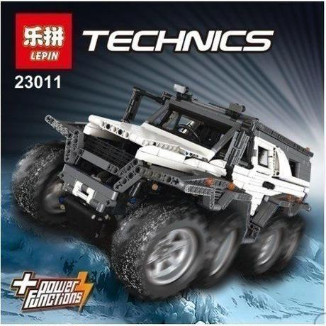LEPIN レゴ互換オフロードカー テクニック 23011 2861ピース ブロックおもちゃ  LEGO互換 ホワイト