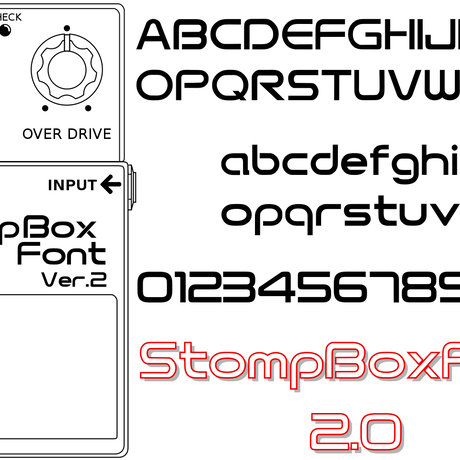 StompBox Font (コンパクト・エフェクター フォント)