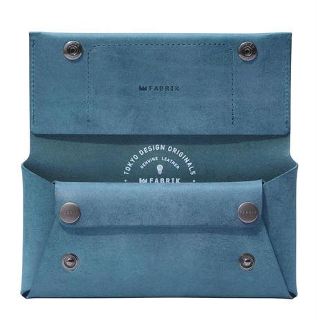 コンパクト設計の長財布 LONG WALLET / BLUE