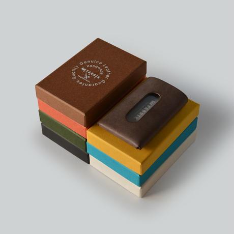 """用途や収納枚数で選べるカードケース""""10/20""""   CARD CASE 10-20 / BRICK RED"""