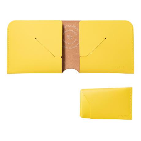 コインケースが取り外せる財布 BI-FOLD WALLET & COIN CASE[FLIP] / LEMON