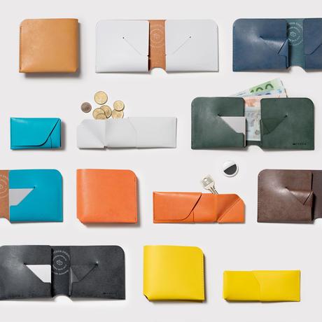 コインケースが取り外せる財布 BI-FOLD WALLET & COIN CASE[FLIP] / FABRIK TURQUOISE