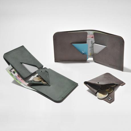 コインケースが取り外せる財布 BI-FOLD WALLET & COIN CASE / DARK GREEN