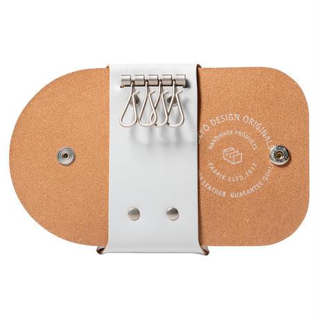 カードも入るキーケース KEY CASE & CARD / ICE WHITE