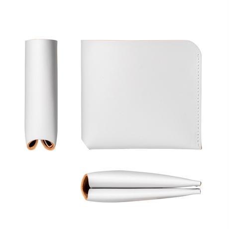 コインケースが取り外せる財布 BI-FOLD WALLET & COIN CASE[FLIP] / ICE WHITE