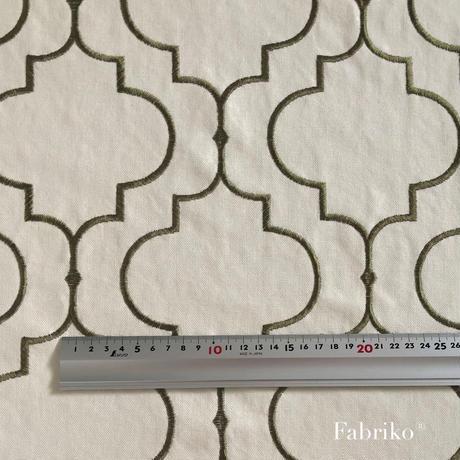 モロッカン刺繍・カーキ