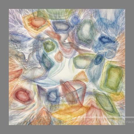 林 明日美作品 「見えない光 II」水彩画作品(額付)