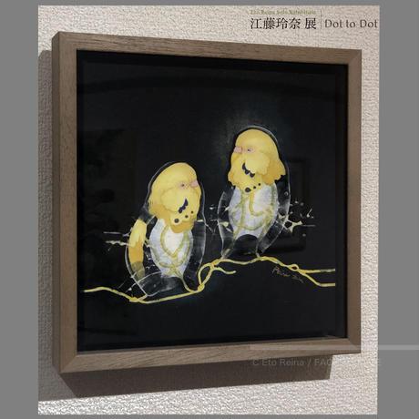 江藤 玲奈 作品 「道しるべ 9」日本画作品