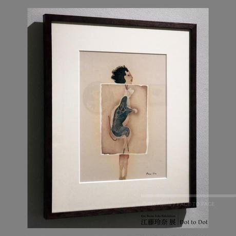 江藤 玲奈 作品 「ネズミ女房」日本画作品