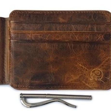4カラーから選べます マネークリップ付き 薄型財布