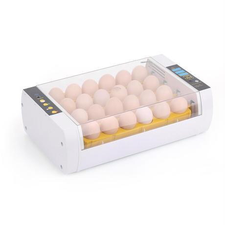 110V スマートインキュベーター 卵24個 孵化鶏、アヒル、ウズラ卵 デジタル表示 家庭用 研究室や授業使用に