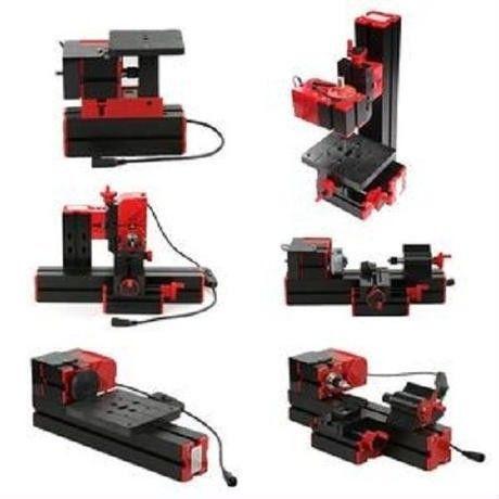 KKmoon 6 in 1 ミニ旋盤 100-240V 卓上工作機械 多機能フライス盤 木工 DI85