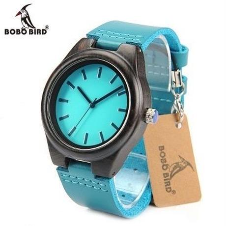BOBO BIRD シンプル 木製腕時計 クォーツ 木の温もり 自然に優しい天然木 スタイリッシュ レディース 革バンド