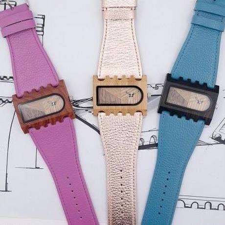 BOBO BIRD 3カラー展開 デザイン性の高い天然木時計 レディース 本革ストラップ 限定デザイン
