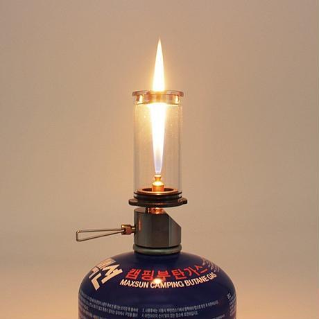 キャンドルランプ ポータブル アウトドア キャンプ ガス照明 提灯 幻想的