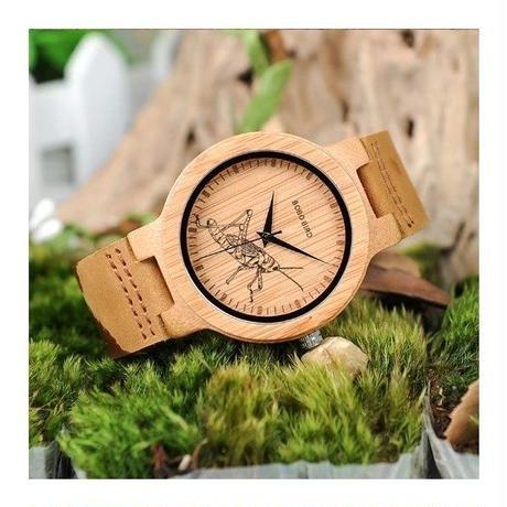 BOBO BIRD 3タイプ 特別デザイン シンプル 木製 レザーバンド クォーツ 木の温もり 自然に優しい天然木 スタイリッシュ
