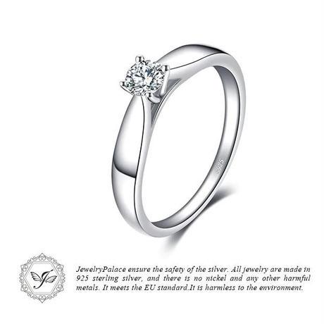 JewelryPalace シンプル キュービックジルコニアリング