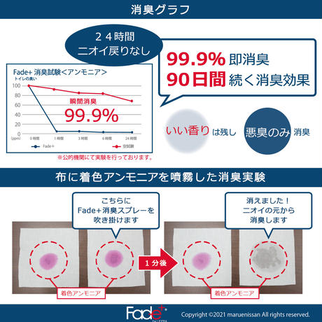 【JC1001】Fade+(フェードプラス)消臭スプレー100ml