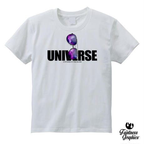 Universe in the glasses / グラフィックロゴTシャツ