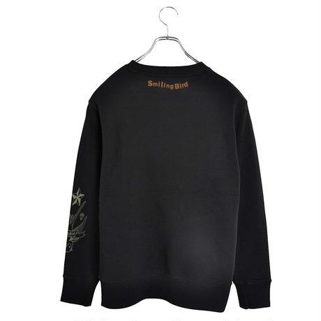 Smiling Bird Crewneck Sweatshirt-Black