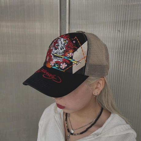 FAJ1315 vintage edhardy mesh cap