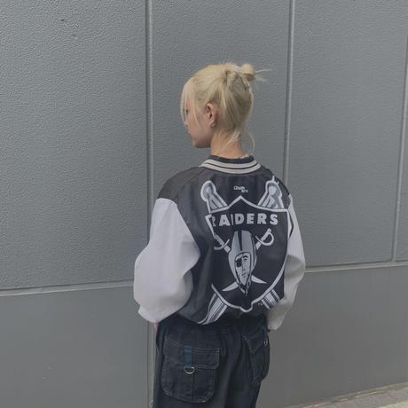 FAJ1310 vintage chalk line RAIDERS blouson jk