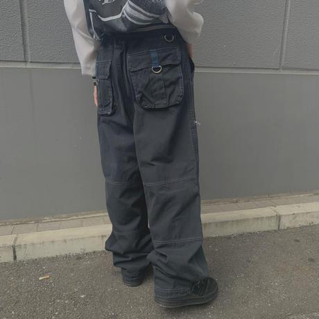 FAJ1302 vintage piko work wide pants