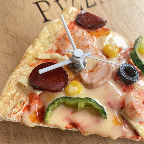 ピザの壁掛け時計