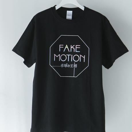 FAKE MOTION ロゴTシャツ【ブラック】(F-015)