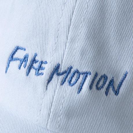 FAKE MOTION 刺繍ロゴCAP【ホワイト】(F-016)