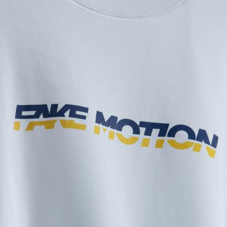 FAKE MOTION ロゴトレーナー【ホワイト】(F-009)