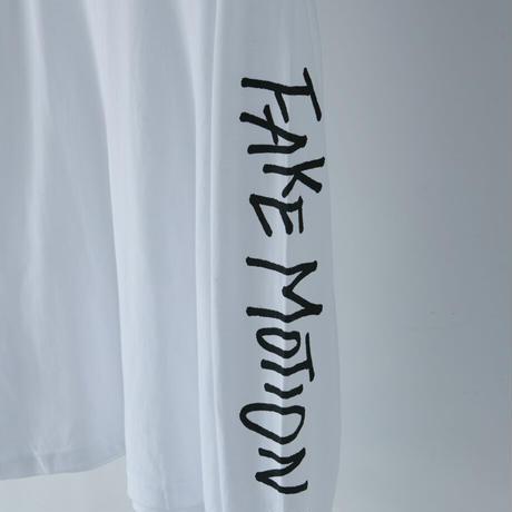 FAKE MOTION オリジナルロンT【ホワイト】(F-004)