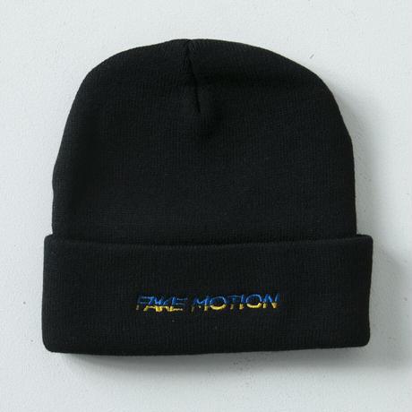 FAKE MOTION ロゴニット帽【ブラック】(F-005)