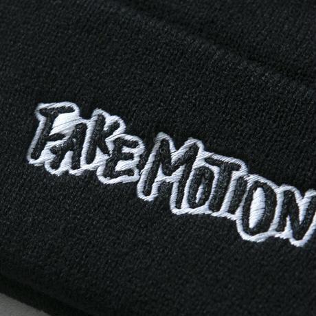 FAKE MOTION オリジナルロゴニット帽【ブラック】(F-006)