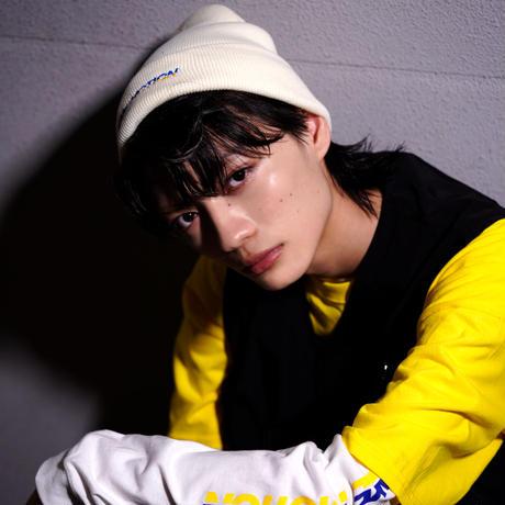 FAKE MOTION ロゴニット帽【ホワイト】(F-005)