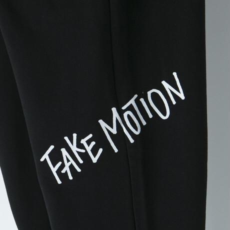 FAKE MOTION オリジナルロゴスウェットパンツ【ブラック】(F-008)