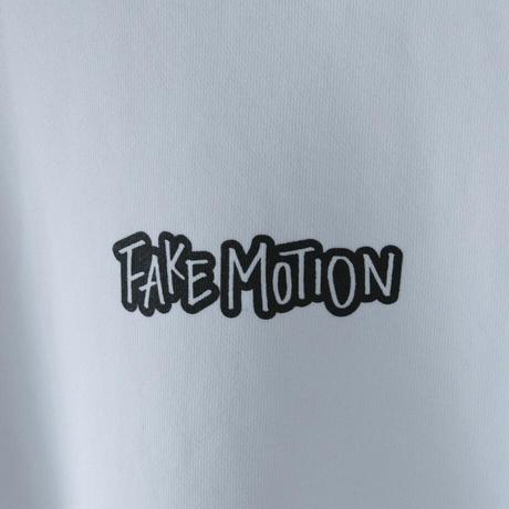 FAKE MOTION オリジナルロゴトレーナー【ホワイト】(F-010)
