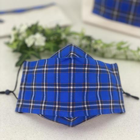 神戸タータン 立体マスク      全柄小さ目  抗菌防臭加工ガーゼ